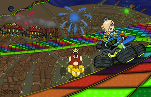 Rosalina on Rainbow Road by NY-Disney-fan1955