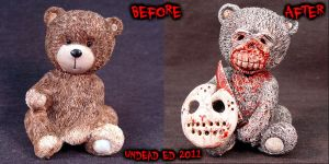 Bear with Jason compare by Undead-Art