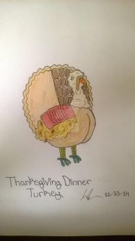 Thanksgiving dinner trukey by Lalaith-Clanst