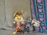 Ratchet And Clank Plushies! by xX-Paradise-Lost-Xx