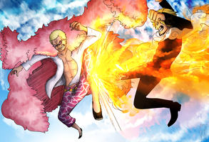 Sanji Vs Doflamingo by Deer-Head