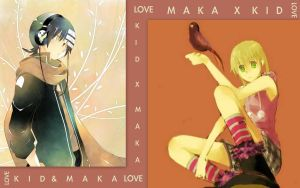 Kid x Maka Wallpaper by nejitenrenamy