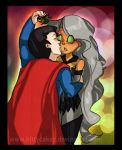 Commission Card Sample-- Superman and Comyt by kittycakez