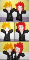 Axel and Roxas Plushies by lady-obsessed