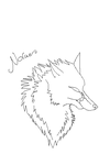 Wolf Lineart by GalaxyCrowButt