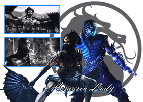 New MKX ID (Sub-Zero/ Kitana) by Assassin-Lady