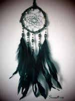 Dreamcather howlite, black feathers by SuvetarsWell