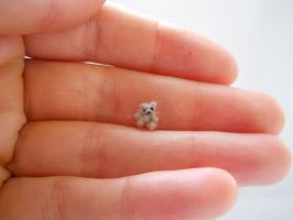 ooak extreme micro miniature tiny jointed bear by tweebears