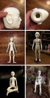 Making My 1st Ball Jointed Doll Part 8 by ajldesign