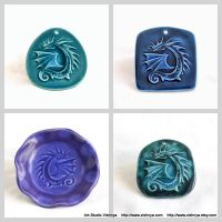 Dragons - small ceramic wall pictures - 2 by vavaleff