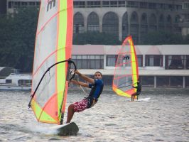 Wind Surfing on the Nile by brianhaddad