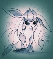 Glaceon (request) by thelunarmoon