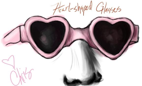 Heart-Shaped Glasses by sexy-physics-geek