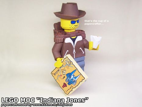 fake Indy cup of a papercrafter by ninjatoespapercraft