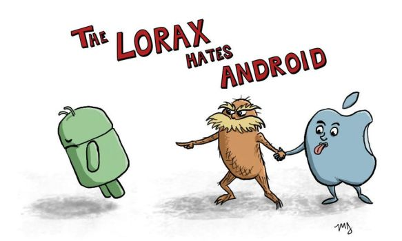 The Lorax hates Android by muhkayoh