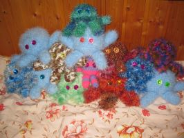crochet squid family -17.6.09- by PinkuArt