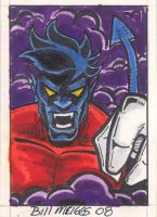 Night Crawler sketchcard by billmeiggs