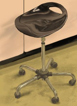 Glossy Chair still life by dkdelicious
