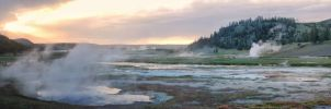 Yellowstone Sunset by Bawwomick