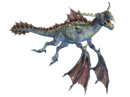Water Dragon 02 PNG Stock by Jumpfer-Stock