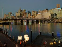 Darling Harbour approaching Dusk by GarrettBrothers