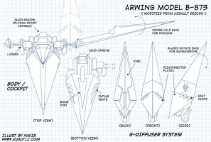 Arwing Blueprints 01 by naviechance
