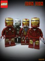 Four Brothers - LEGO IRONMAN by areev19