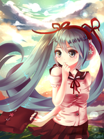 2014 Spring Uniform Miku by SYGNALLOST