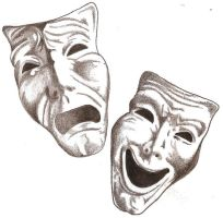 Comedy Tragedy Masks by TheLob