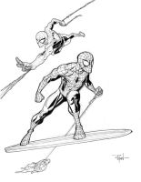 Spidey VS the Silver Surfer by RyanOttley