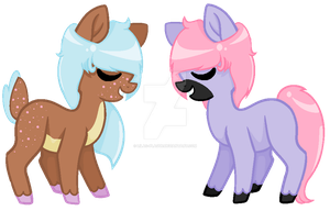 Small Pony Adopts by Lilac-Plague