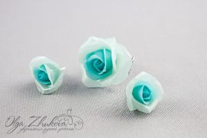 jewelry set with roses by polyflowers