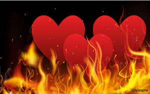 Hearts in Fire by KmyGraphic