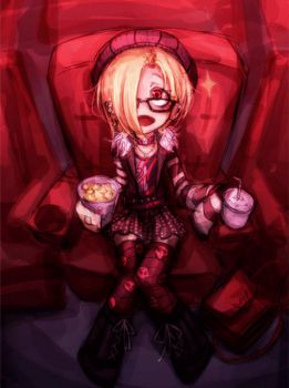 Koume in movie theater by Ray-kbys