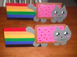 Nyan Cat Welded and Painted by Rosaka