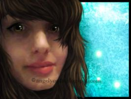 ANGELyorda Digital Portrait with Background V1 by yoanribeiro