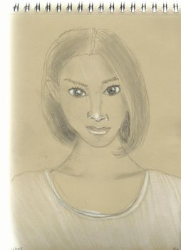 Kraft test - Woman face study n107 by lv888