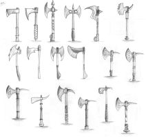 Axe Weapon Drafts by NoveliaProductions