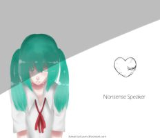 Hatsune Miku - Nonsense Speaker by kawaii-sarcasm