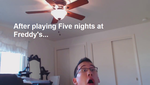 Five nights at Freddy's reaction by KitzCatCPFan