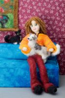 Tobie Love -Felted Fuzzies by feltAliza