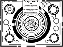 Glyph set 3 by Random-Acts-Stock