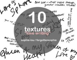 Textures: Love Handwriting by Sophie-Lou