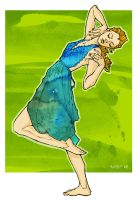 Watercolor Dress by ChristineAltese