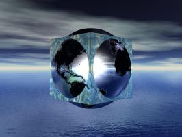 Cubed Globe by Don64738