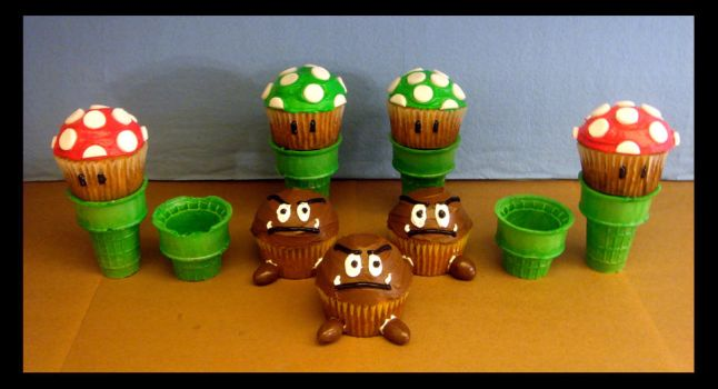 Sweets - Mushrooms and Goombas by Tomo-Chi