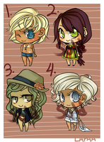 Adoptables: beach babes by lapaa