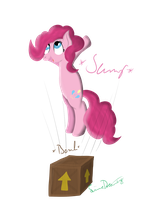 Pinkie jumps on Crate by LimeDreaming