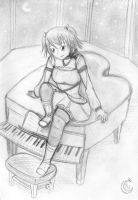 Sounds of a piano in the night by YinUkume