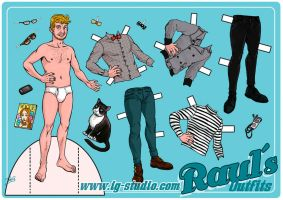 Raul. Paperdoll by soyivang